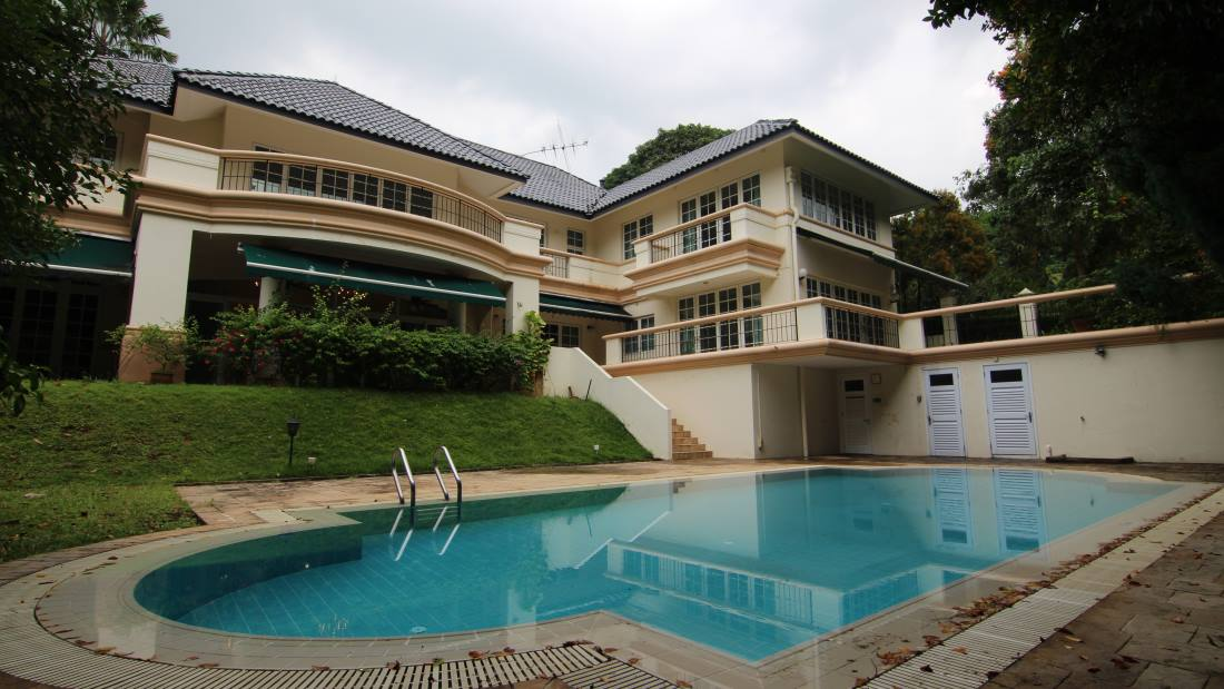 Singapore property for rent good class bungalow for Garden pool bungalow