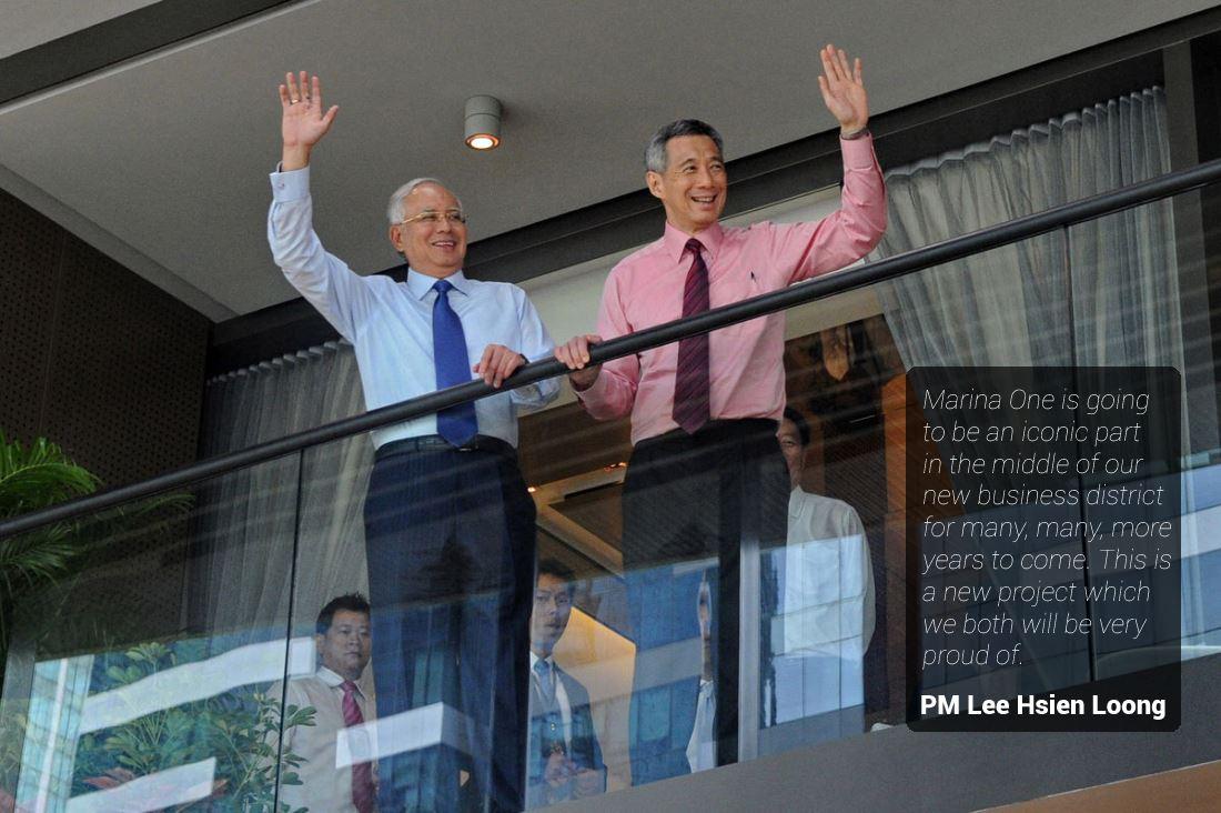Marina One - PM Lee and Najib