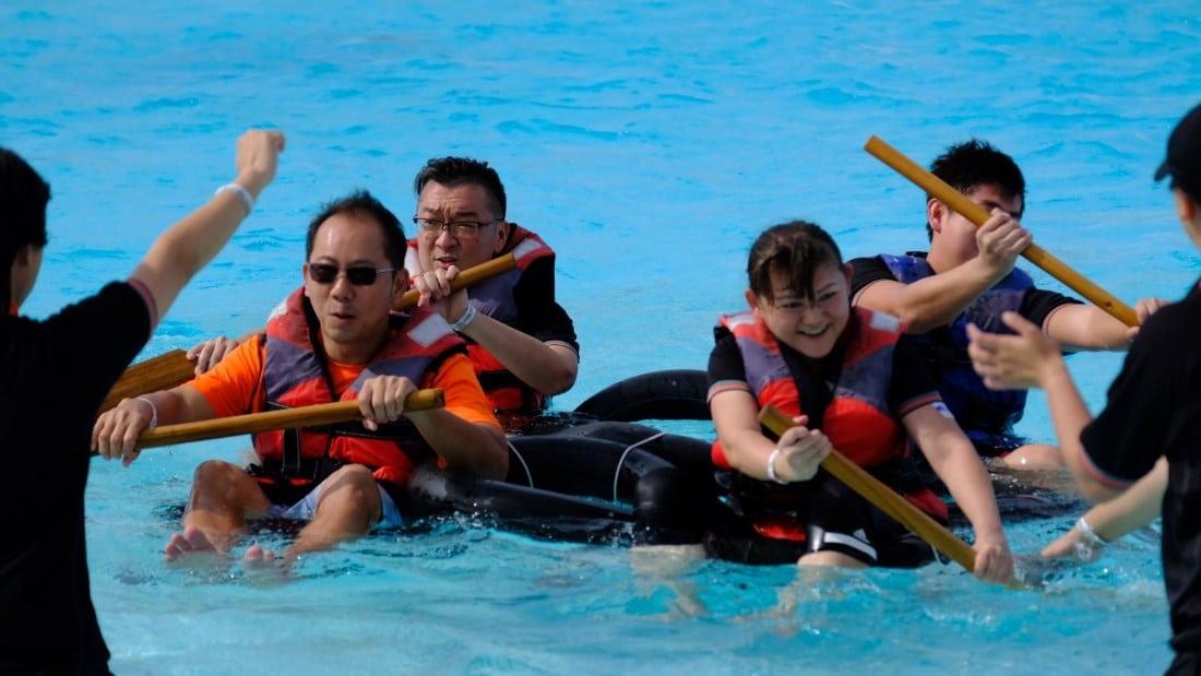 OrangeTee Leadership In-Action-Camp peddling game