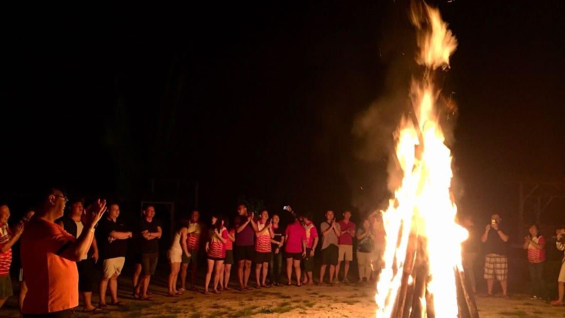 OrangeTee Leadership In-Action Camp - campfire