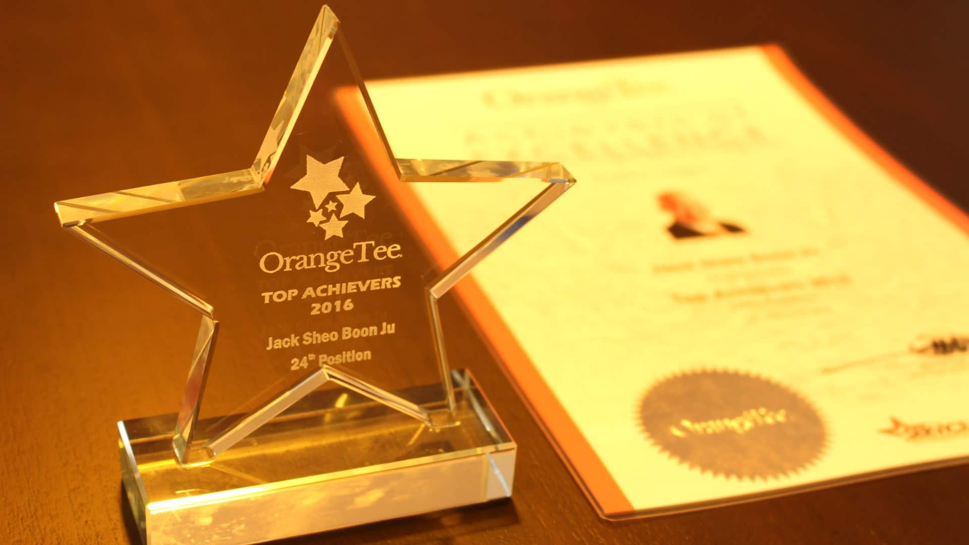 OrangeTee TOP Achiever 2016
