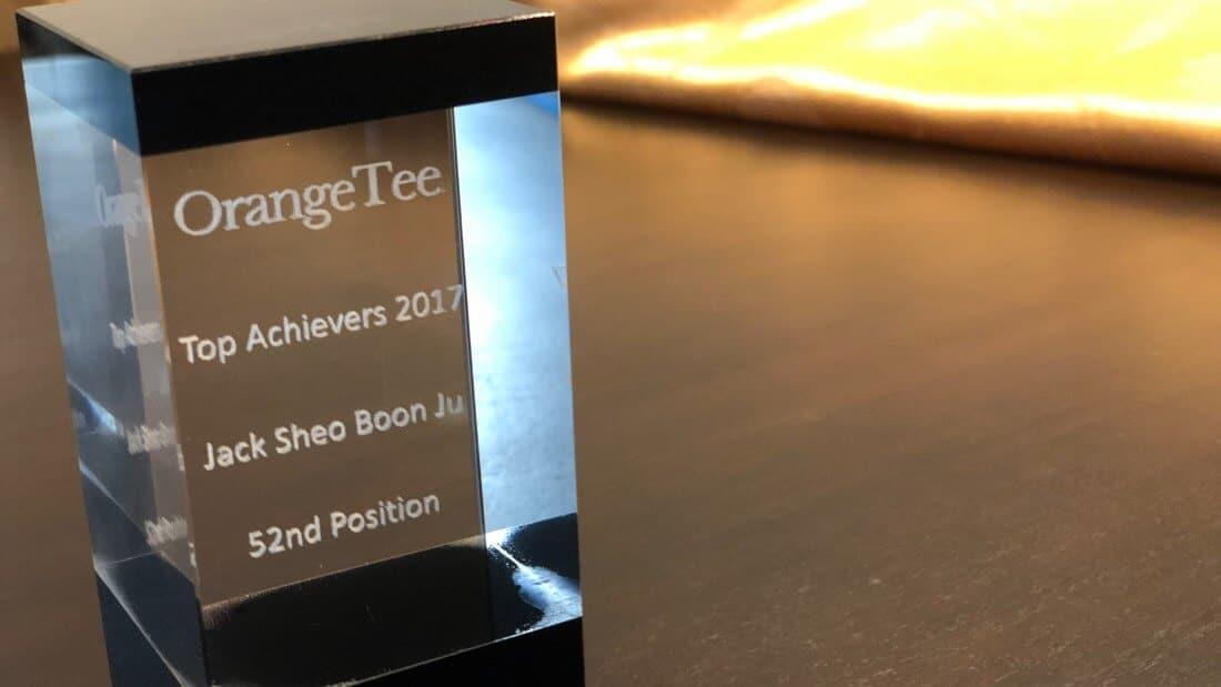 blog - OrangeTee TOP achiever 2018