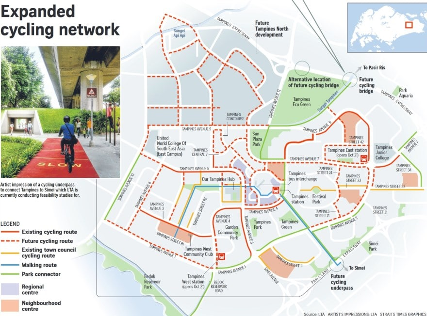 Tampines Cycling Path Network