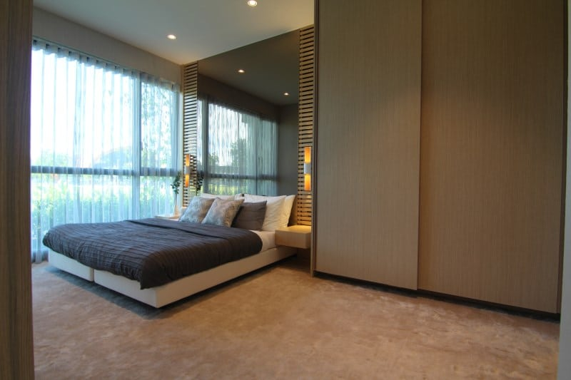 Look at the amount of space in the master bedroom