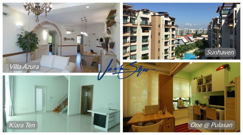 Properties at Villa Marina, Sunhaven, Kiara Ten and One @ Pulasan that were transacted by Jack.
