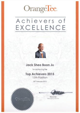 Singapore Property Agent Jack Sheo - Top Producer 2015
