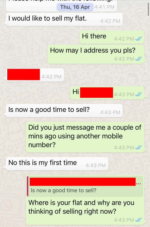 This conversation would lead to my 1st ever exclusive appointment to sell a property without even physically seeing the property.
